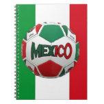 Soccer Mexico Rio  Brazil Spiral Notebooks