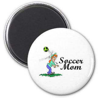 Soccer Mom 2 Inch Round Magnet