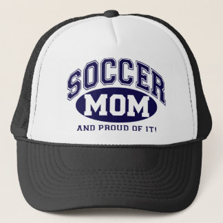 Soccer Mom and proud of it! - Navy Blue Trucker Hat