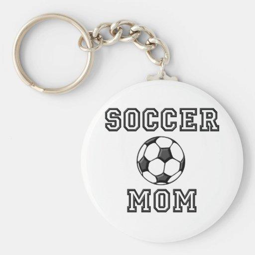 Soccer Mom Basic Round Button Keychain