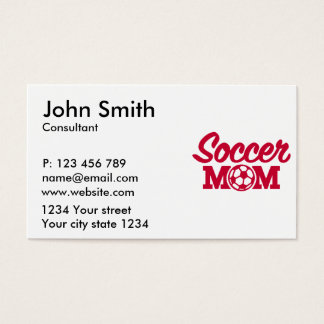 Soccer mom business card