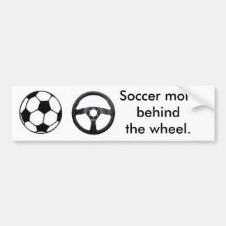 Soccer mom car bumper sticker