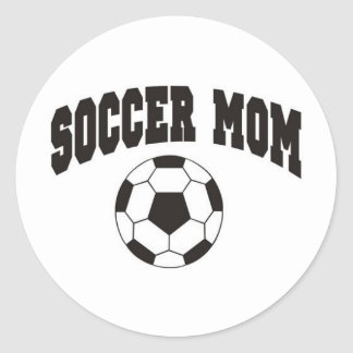Soccer mom classic round sticker