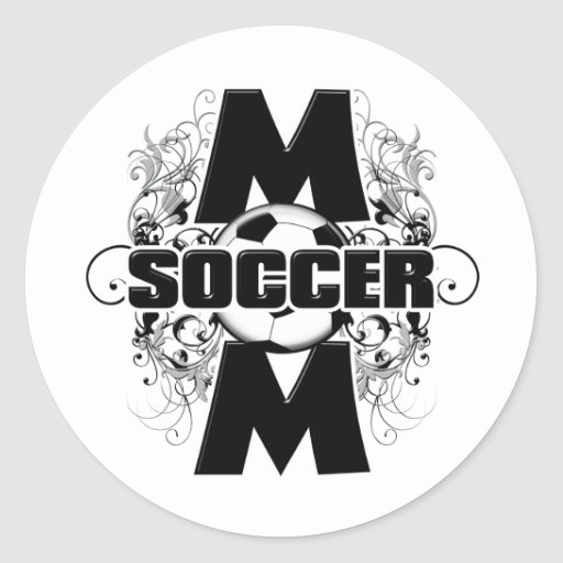Soccer Mom (cross).png Classic Round Sticker
