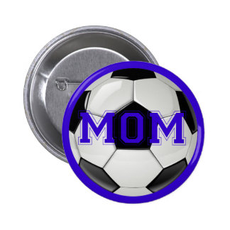 Soccer Mom Custom Colors Pinback Button