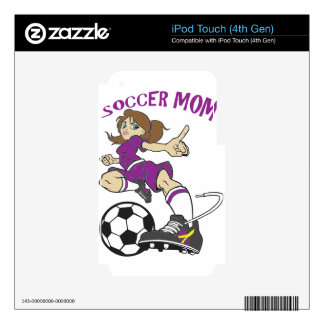 SOCCER MOM DECAL FOR iPod TOUCH 4G