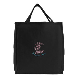 Soccer Mom Embroidered Tote