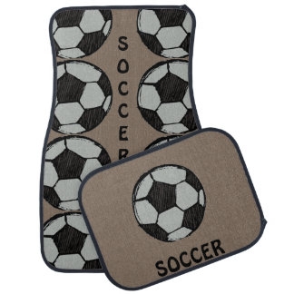 """SOCCER MOM"" FULL SET OF CAR MATS"