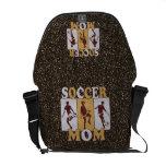 Soccer Mom Glitter effect Courier Bag