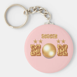 Soccer Mom Gold Bronze Soccer Ball Gifts Key Chains