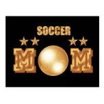 Soccer Mom Gold Bronze Soccer Ball Gifts Postcard