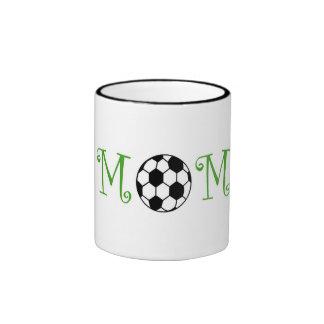Soccer Mom, Green Ringer Mug