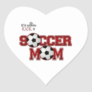 Soccer Mom Heart Sticker