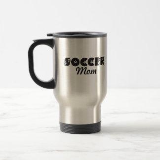 Soccer Mom in Black Travel Mug