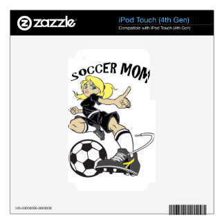 SOCCER MOM iPod TOUCH 4G DECAL