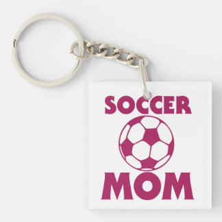 Soccer Mom Double-Sided Square Acrylic Keychain