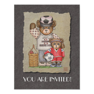 Soccer Mom & Kid Bears Card