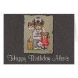 Soccer Mom & Kid Bears Greeting Cards