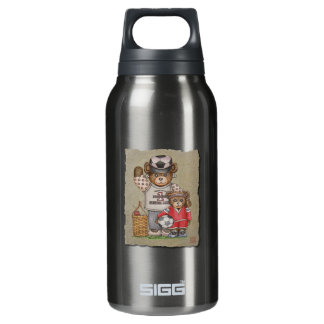 Soccer Mom & Kid Bears Insulated Water Bottle