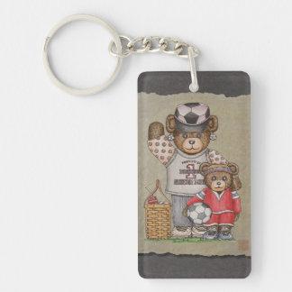 Soccer Mom & Kid Bears Keychain
