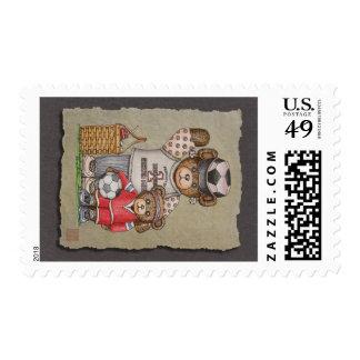 Soccer Mom & Kid Bears Stamp