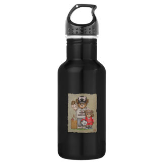 Soccer Mom & Kid Bears Water Bottle