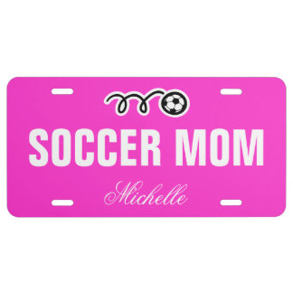 Soccer mom license plate | custom name and color