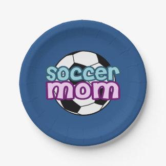 Soccer Mom Paper Plate