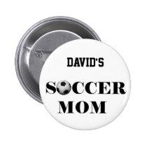 SOCCER mom Pinback Button
