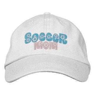 Soccer Mom Pink Blue Soccer supports Cap Baseball Cap