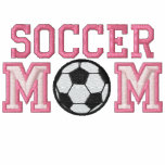 Soccer Mom - pink Embroidered Hoody