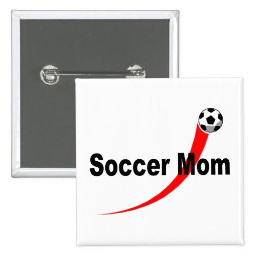 Soccer Mom (Rd/Blk) Buttons