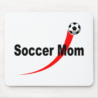 Soccer Mom (Rd/Blk) Mouse Pad