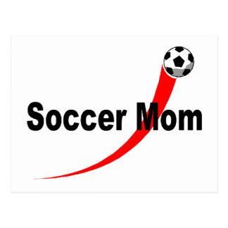 Soccer Mom (Rd/Blk) Postcard