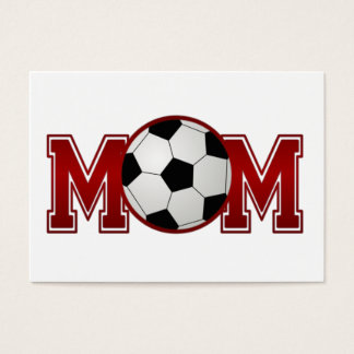 Soccer Mom Red Business Card