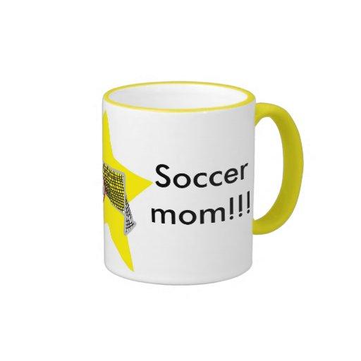 Soccer Mom! Ringer Coffee Mug