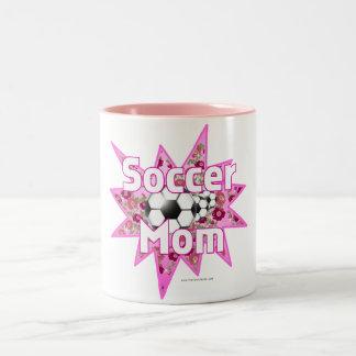 Soccer Mom Roses Two-Tone Coffee Mug