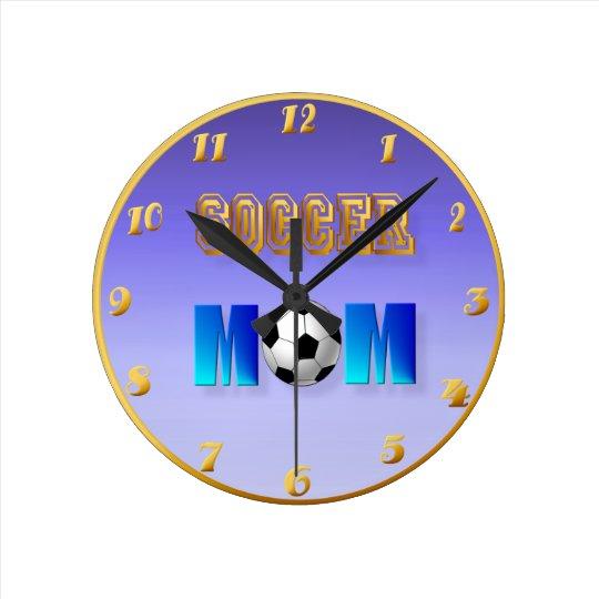 Soccer Mom Round Clock