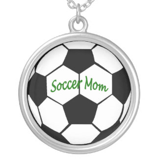 Soccer Mom Round Pendant Necklace