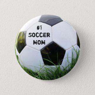 Soccer Mom Soccer Ball Pinback Button