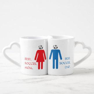 SOCCER MOM & SOCCER DAD COUPLES COFFEE MUG