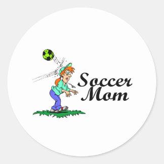 Soccer Mom Classic Round Sticker