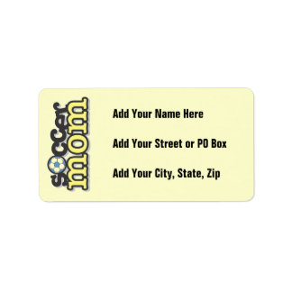 Soccer Mom T-shirts and Gifts Label
