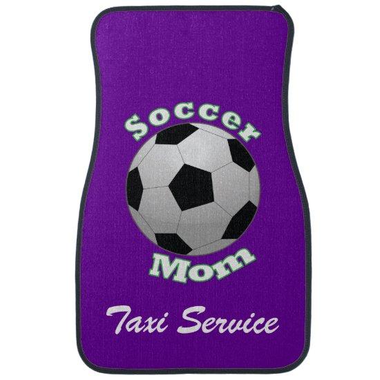 Soccer Mom Taxi Service Car Mat
