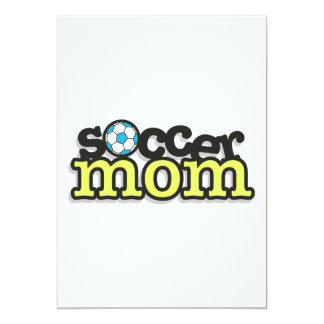 soccer mom text design 2 5x7 paper invitation card