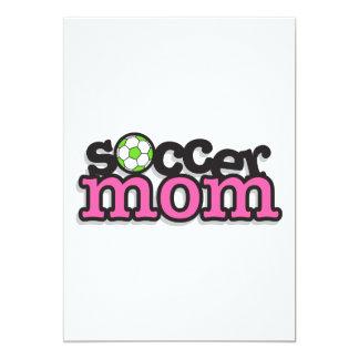 soccer mom text design 5x7 paper invitation card