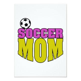 soccer mom text graphic 2 5x7 paper invitation card