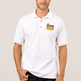 soccer mom text graphic 2 polo shirt