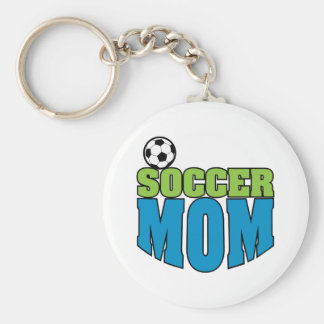 soccer mom text graphic keychain