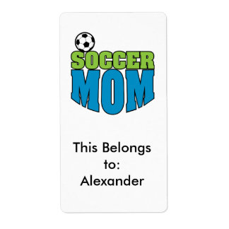 soccer mom text graphic label
